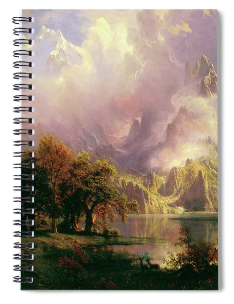 Rocky Mountain Landscape Spiral Notebook