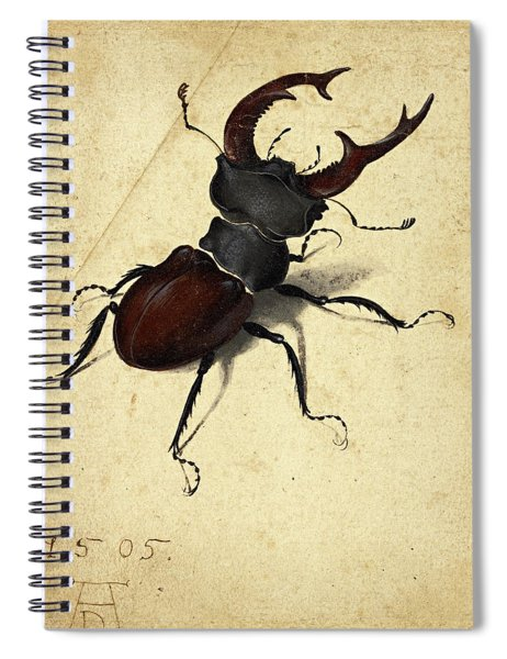 Stag Beetle Spiral Notebook