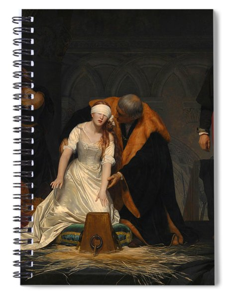 The Execution Of Lady Jane Grey Spiral Notebook