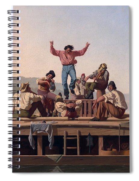 The Jolly Flatboatmen Spiral Notebook