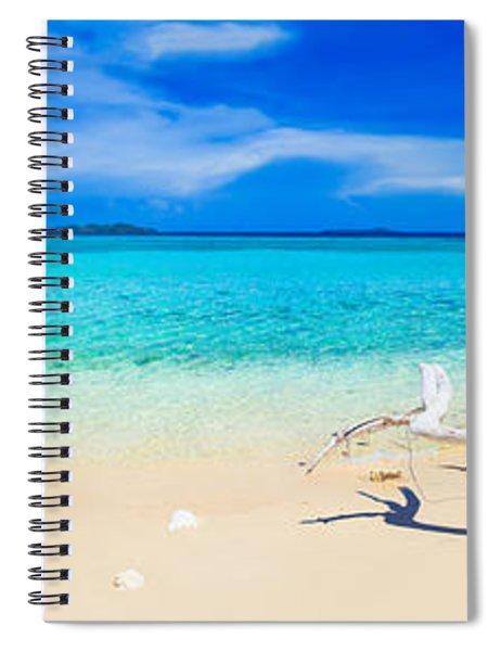 Tropical Beach Malcapuya Spiral Notebook