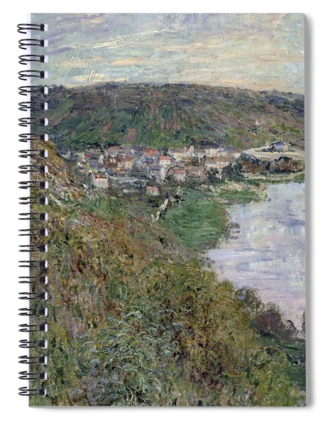 View Of Vetheuil Spiral Notebook