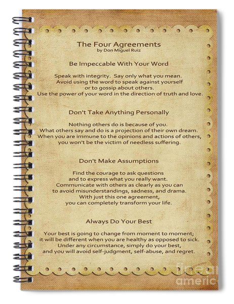 41- The Four Agreements Spiral Notebook