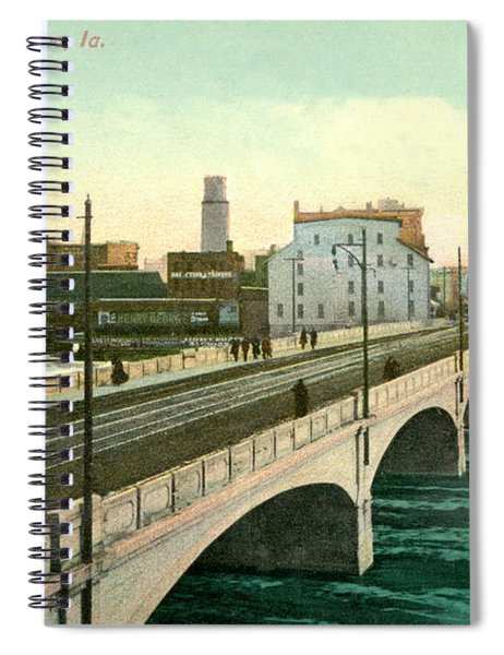 4th Street Bridge Waterloo Iowa Spiral Notebook