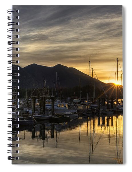 4th Street Docks Sunrise - Tofino Spiral Notebook