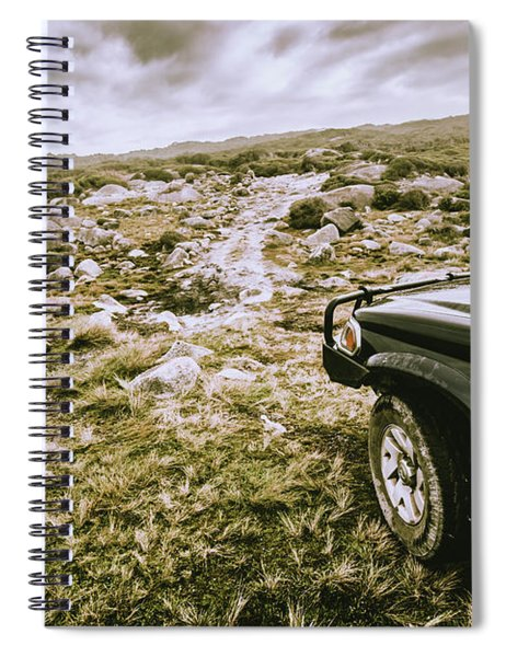 4wd On Offroad Track Spiral Notebook