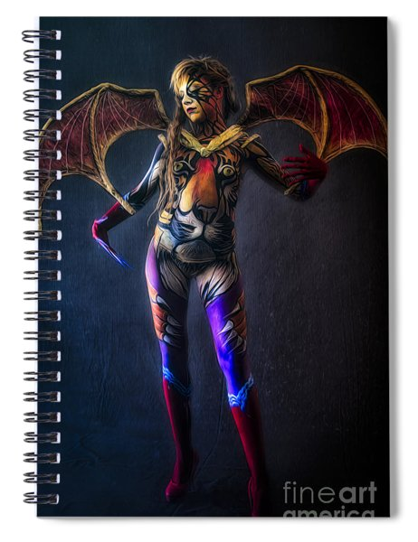 Bodypainting Spiral Notebook