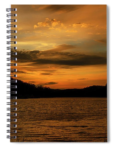 First Light On The Lake Spiral Notebook