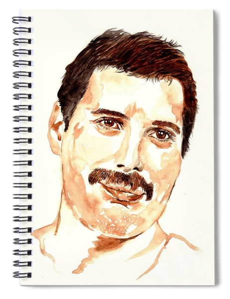 Freddie Mercury Portrait Spiral Notebook