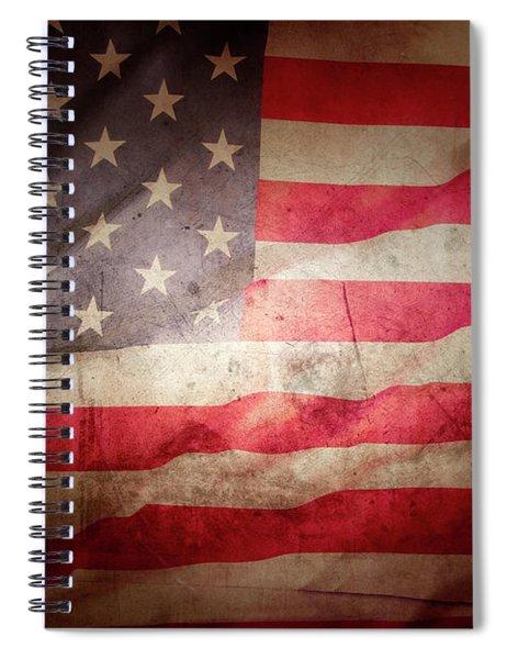 Grunge American Flag 4 Spiral Notebook
