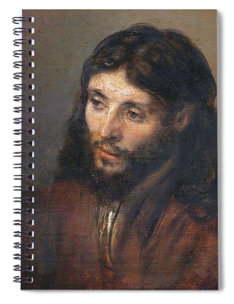 Head Of Christ Spiral Notebook