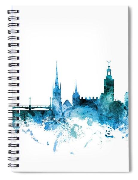 Stockholm Sweden Skyline Spiral Notebook