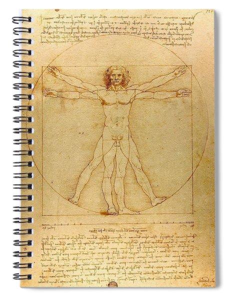 Vitruvian Man Spiral Notebook
