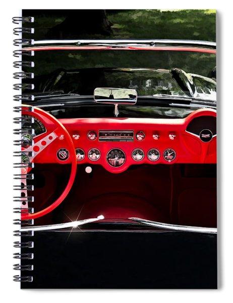 56 Corvette Convertible Spiral Notebook