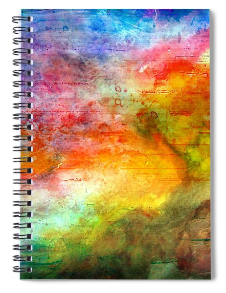 5a Abstract Expressionism Digital Painting Spiral Notebook