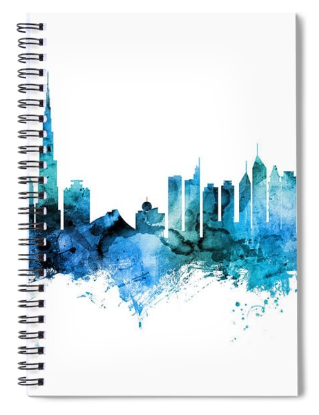 Dubai Skyline Spiral Notebook