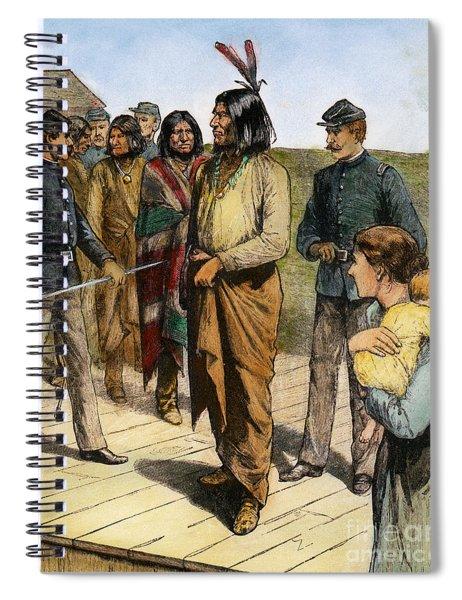 Geronimo 1829-1909.  To License For Professional Use Visit Granger.com Spiral Notebook