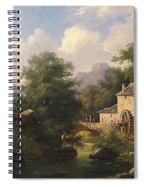 Mill With Angler Spiral Notebook