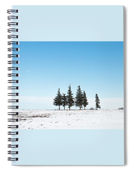6 Pines And The Moon Spiral Notebook