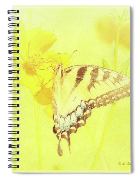 Tiger Swallowtail Butterfly On Cosmos Flower Spiral Notebook