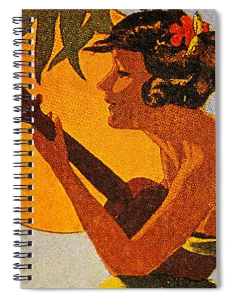 Vintage Hawaiian Art Spiral Notebook