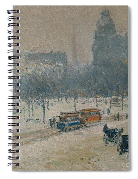 Winter In Union Square Spiral Notebook