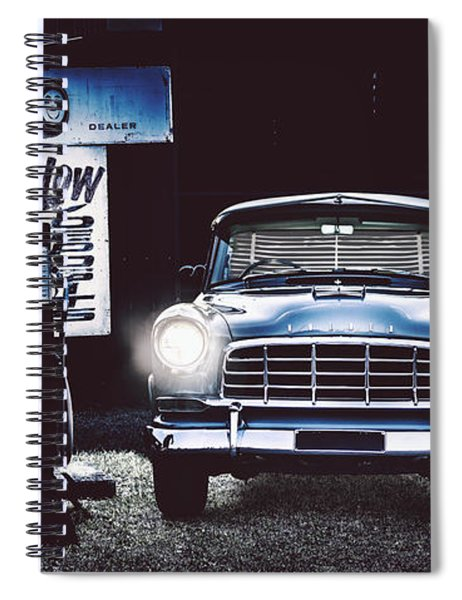 60s Australian Fc Holden Parked At Old Garage Spiral Notebook