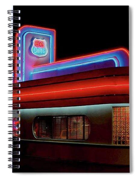 66 Diner, Albuquerque, New Mexico Spiral Notebook