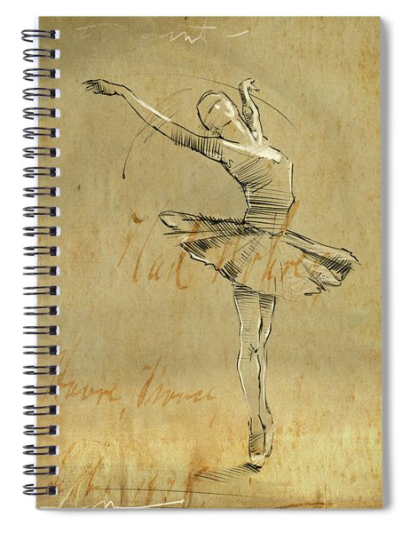 Ballerina Spiral Notebook