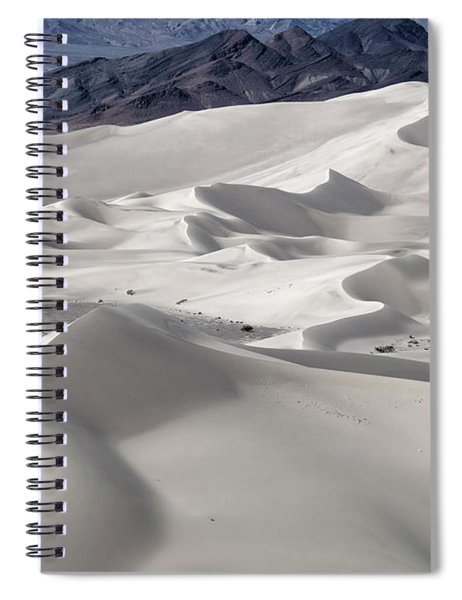Spiral Notebook featuring the photograph Dumont Dunes 8 by Jim Thompson