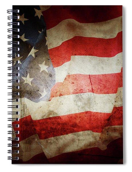 Grunge American Flag 2 Spiral Notebook