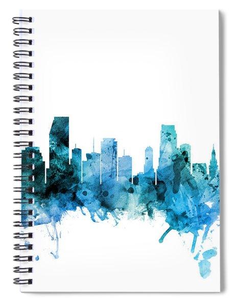 Miami Florida Skyline Spiral Notebook