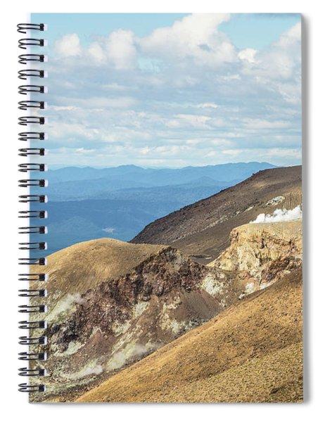 Tongariro Alpine Crossing In New Zealand. Spiral Notebook