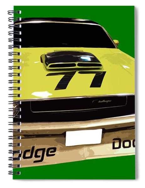77 Yellow Dodge Spiral Notebook