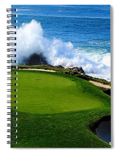 7th Hole - Pebble Beach  Spiral Notebook