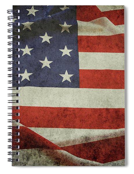 Grunge American Flag 1 Spiral Notebook