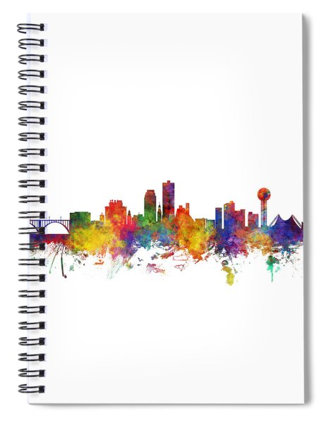 Knoxville Tennessee Skyline Spiral Notebook