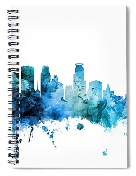 Minneapolis Minnesota Skyline Spiral Notebook