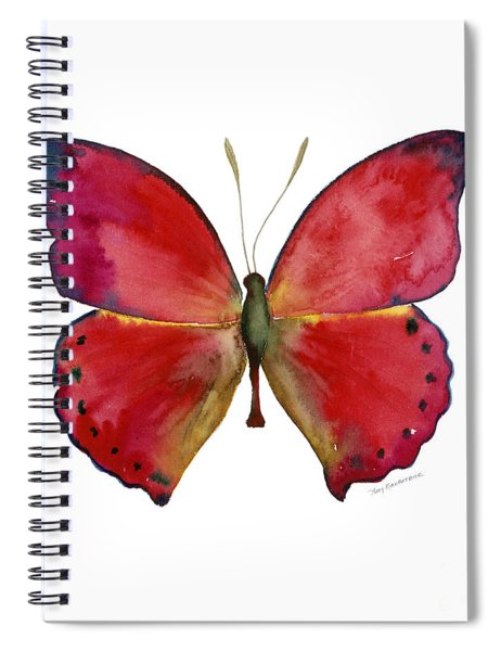 83 Red Glider Butterfly Spiral Notebook by Amy Kirkpatrick