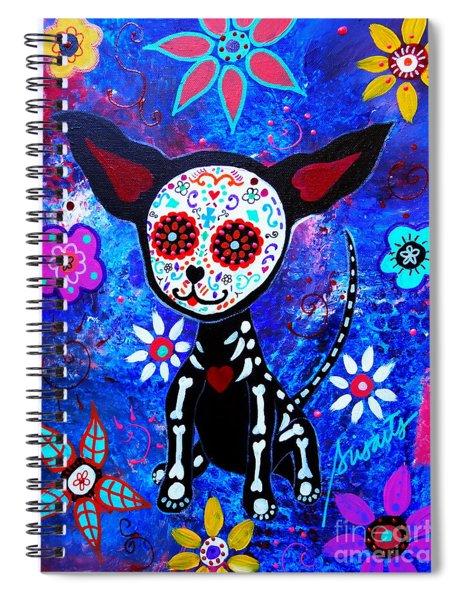 Chihuahua Dia De Los Muertos Spiral Notebook