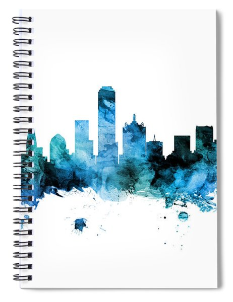 Dallas Texas Skyline Spiral Notebook