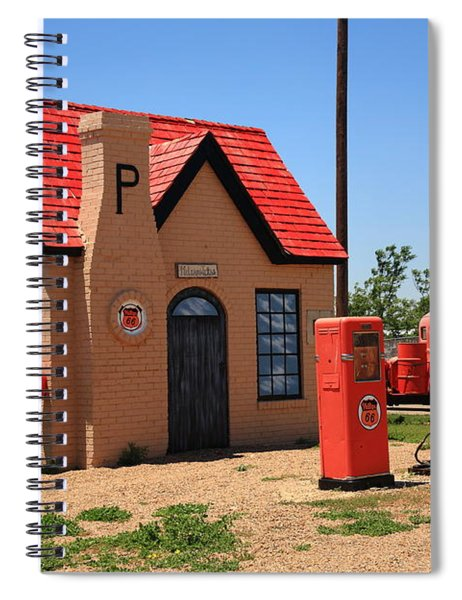 Route 66 - Phillips 66 Gas Station Spiral Notebook
