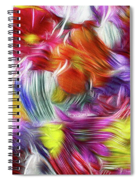 9a Abstract Expressionism Digital Painting Spiral Notebook