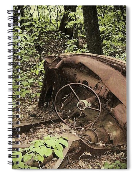 Abandoned 50s Classic.... Spiral Notebook
