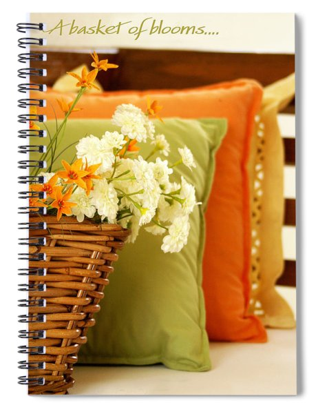 A Basket Of Blooms Spiral Notebook
