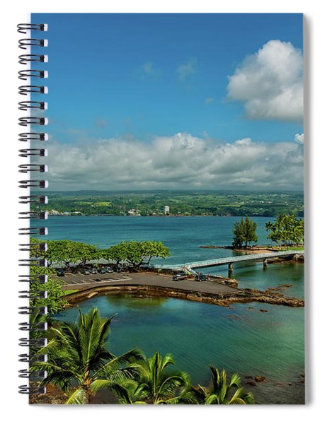 A Beautiful Day Over Hilo Bay Spiral Notebook