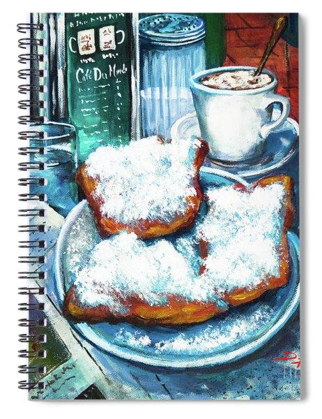 A Beignet Morning Spiral Notebook