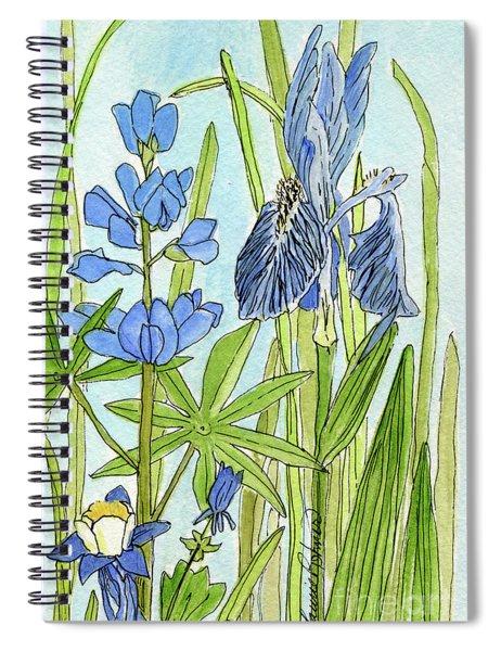 A Blue Garden Spiral Notebook