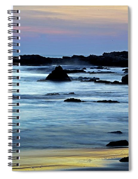 A Blue Sunset At Tantura Beach 02 Spiral Notebook