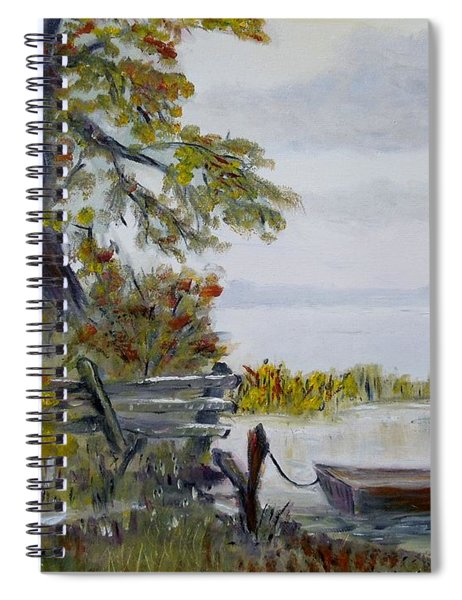 A Boat Waiting Spiral Notebook